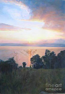 Dawn Over The Sea Of Galilee. Poster by Maya Bukhina