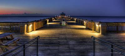Dawns Early Light Folly Beach Pier Charleston South Carolina Poster