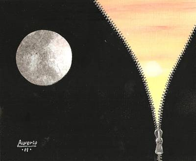 Poster featuring the painting Day And Night by Edwin Alverio