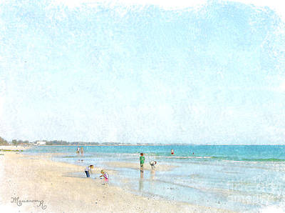 Day At The Beach Poster by Mariarosa Rockefeller