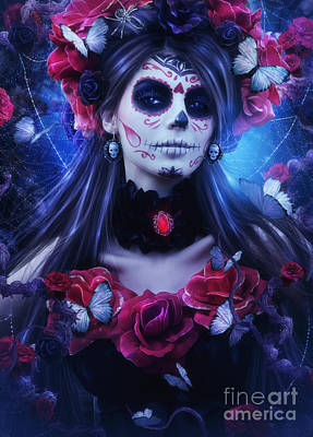 Day Of The Dead 3 Poster by Jessica Allain