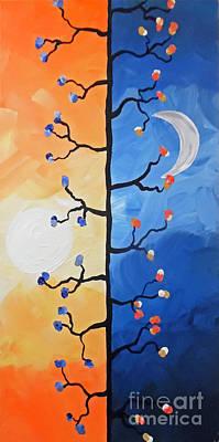 Day Twists To Night Poster by Jilian Cramb - AMothersFineArt
