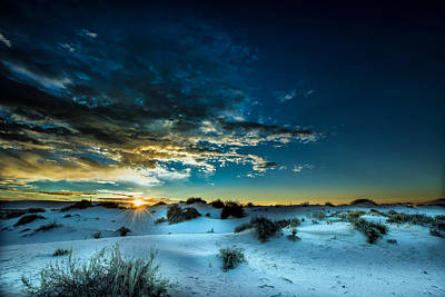 Daybreak At White Sands Poster