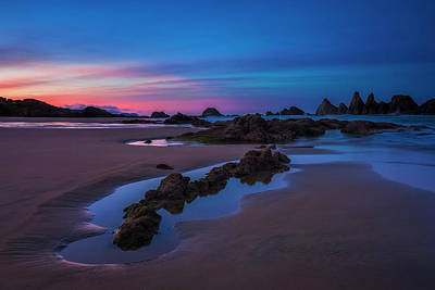 Daybreak Over Seal Rock Poster