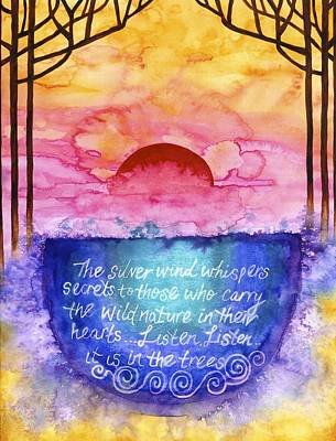 Daybreak Over The Cauldron Of Inspiration Poster by Cat Athena Louise