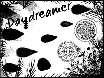 Poster featuring the drawing Daydreamer by Rachel Maynard