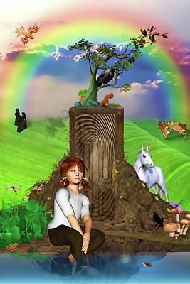 Daydreams In Magicland Poster by John Haldane