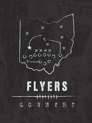 Dayton Flyers / Ncaa College Football Art / Ohio Poster
