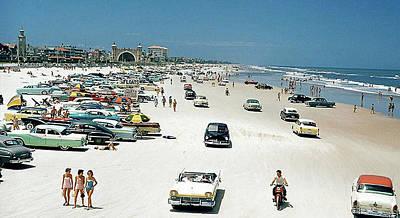 Daytona Beach Florida - 1957 Poster by Merton Allen