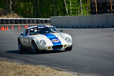 Daytona Shelby Cobra Replica Poster by Mike Martin
