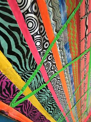 Dazzling Delirious Duct Tape Diagonals Poster