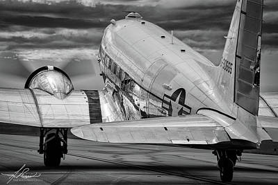 Dc3 Taxiing For Departure Poster