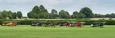 Poster featuring the photograph De Havilland Tiger Moths Line-up by Gary Eason
