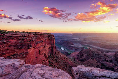 Poster featuring the photograph Dead Horse Point Sunset by Darren White
