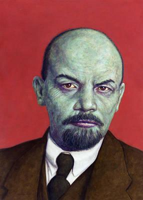 Dead Red - Lenin Poster by James W Johnson