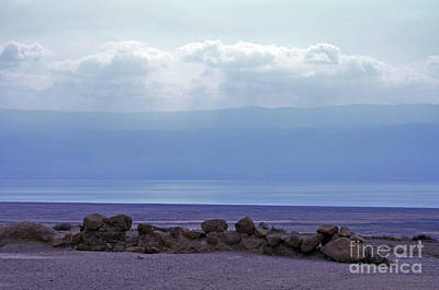 Dead Sea From Qumran Poster by Lydia Holly