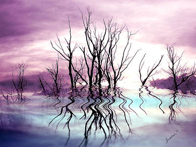 Poster featuring the photograph Dead Trees Colored Version by Susan Kinney