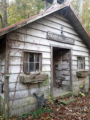 Deadfall One Room Schoolhouse  Gnawbone Indiana Poster by Scott D Van Osdol
