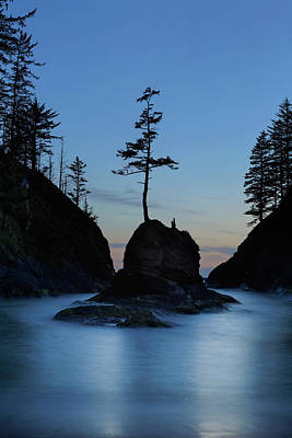Deadman's Cove At Cape Disappointment At Twilight Poster