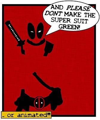 Deadpool's Suit Poster by Kyle West