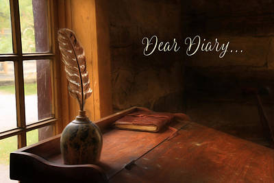 Dear Diary Poster by Lori Deiter