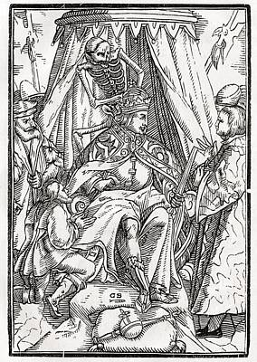 Death Comes For The Emperor Woodcut By Poster