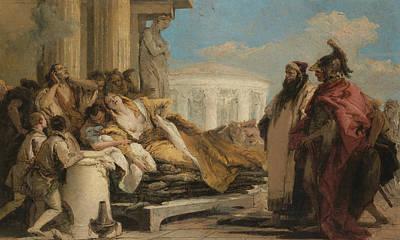 Death Of Dido Poster by Giovanni Battista Tiepolo