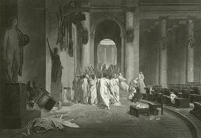Death Of Julius Caesar, 44 Bc  Poster by Jean Leon Gerome