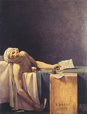Death Of Marat Poster by Jacques Louis David