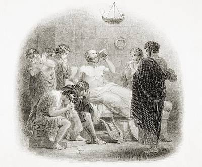 Death Of Socrates, 469 - 399 B.c Poster by Vintage Design Pics