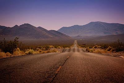 Death Valley Highway Poster