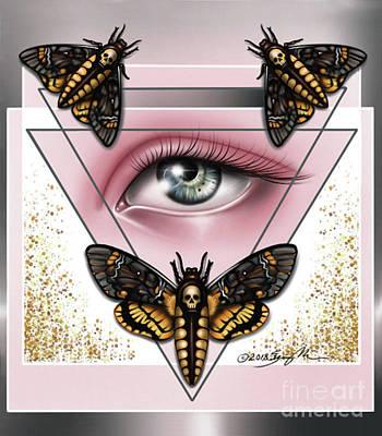 Death's Head Moths Poster