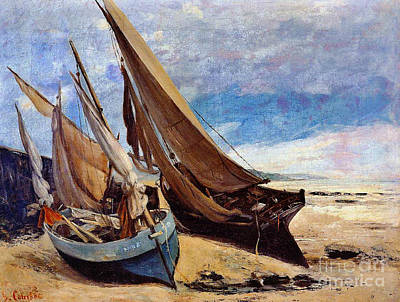 Deauville Beach 1866 Poster by Padre Art