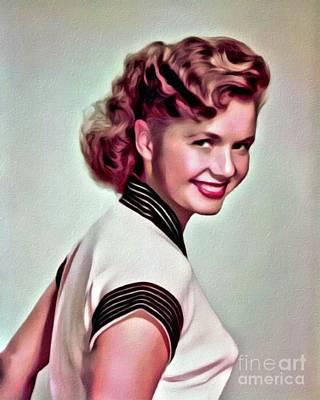 Debbie Reynolds, Hollywood Legend, Digital Art By Mary Bassett Poster
