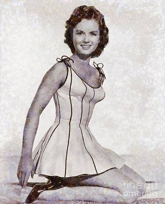 Debbie Reynolds, Vintage Actress By Sarah Kirk Poster by Sarah Kirk