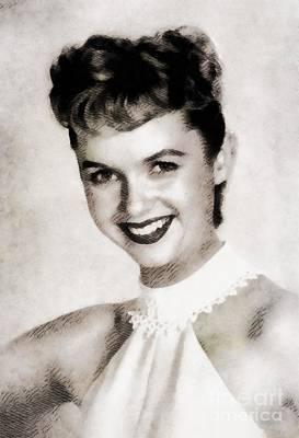 Debbie Reynolds, Vintage Actress Poster by John Springfield