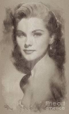 Debra Paget, Vintage Hollywood Actress Poster