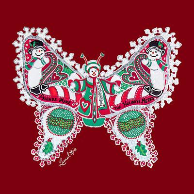 December Butterfly Poster
