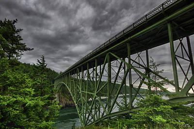 Deception Pass Bridge - Oak Harbor, Wa Poster by Kevin Pate