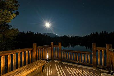Deck Under Moonlight Poster by Michael J Bauer