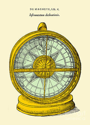Declinometer, 17th Century Illustration Poster by Science Source