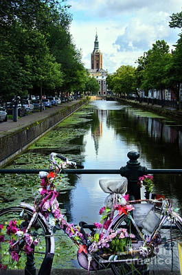 Poster featuring the photograph Canal And Decorated Bike In The Hague by RicardMN Photography