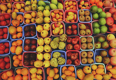 Decorative Fruits Pattern In Vietnam Poster