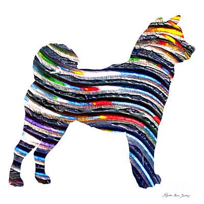 Decorative Husky Abstract O1015b Poster