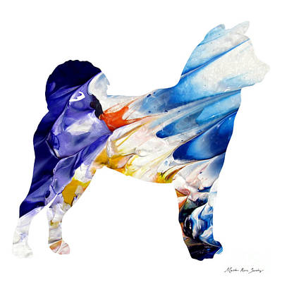 Decorative Husky Abstract O1015c Poster
