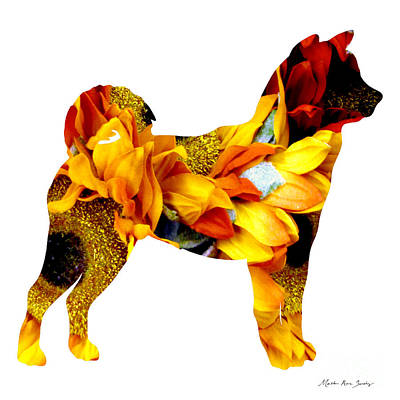 Decorative Husky Abstract O1015g Poster