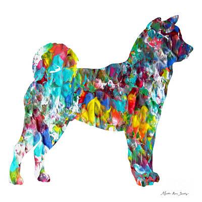 Decorative Husky Abstract O1015h Poster