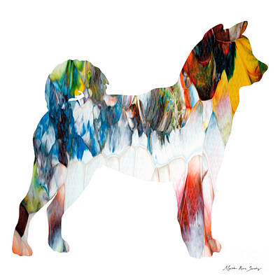 Decorative Husky Abstract O1015l Poster
