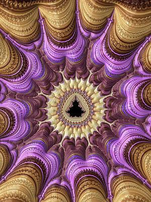 Decorative Luxe Mandelbrot Fractal Purple Gold Poster