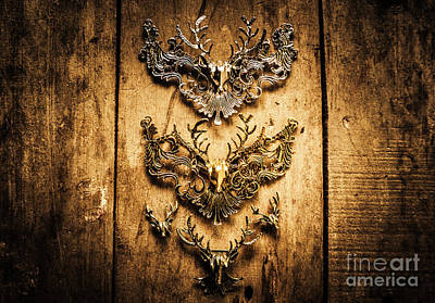 Decorative Moose Emblems Poster